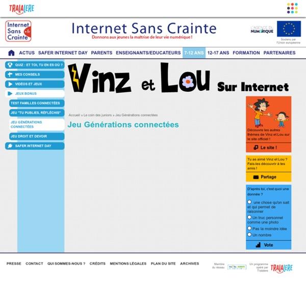 Jeu Safer Internet Day Générations connectées