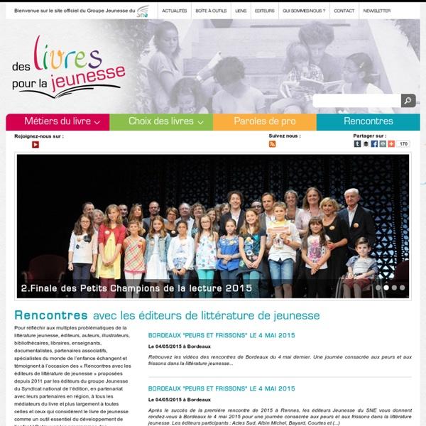 Des Livres pour la jeunesse : Livres pour enfants, ado, actualités, vidéos