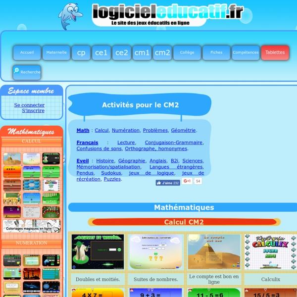 Jeux éducatifs en ligne pour les cm2