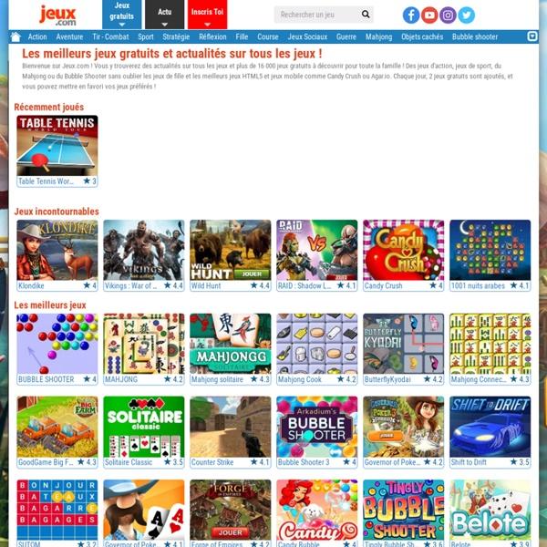 Jeux.com - N°1 des Jeux Gratuits, plus de 8 000 jeux en ligne gratuits