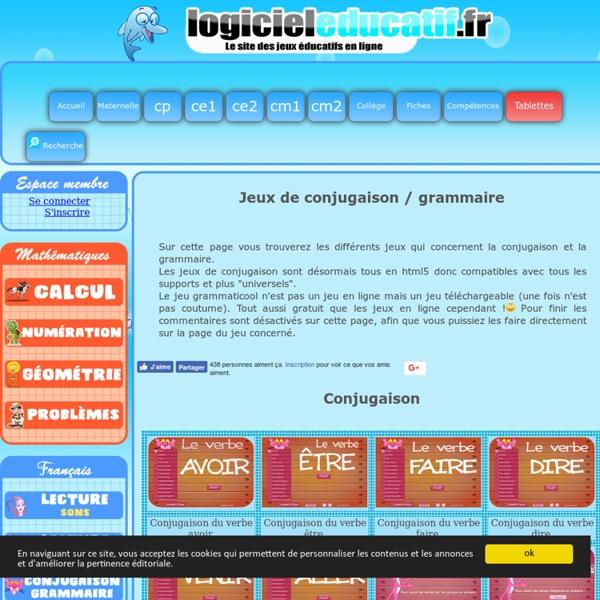Jeux conjugaison grammaire
