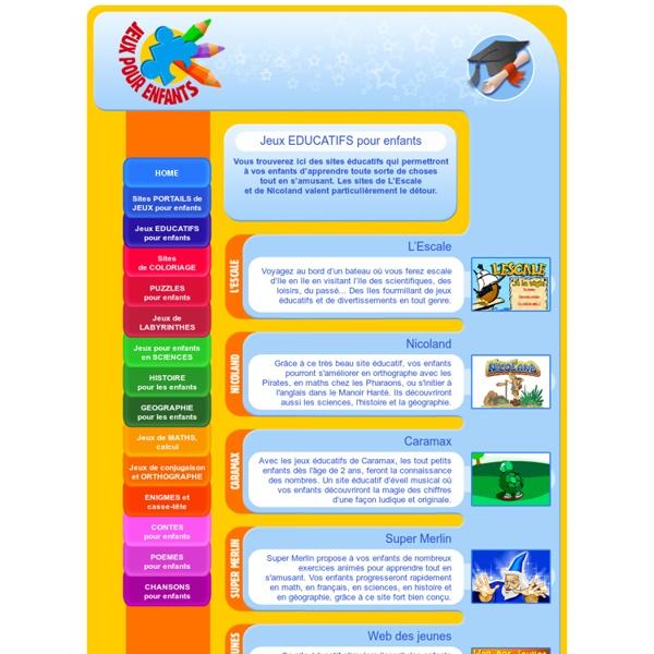 Jeux EDUCATIFS pour enfants