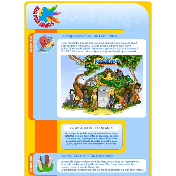 jeux pour enfants site de jeux ducatifs enfants 6 12 ans pearltrees. Black Bedroom Furniture Sets. Home Design Ideas