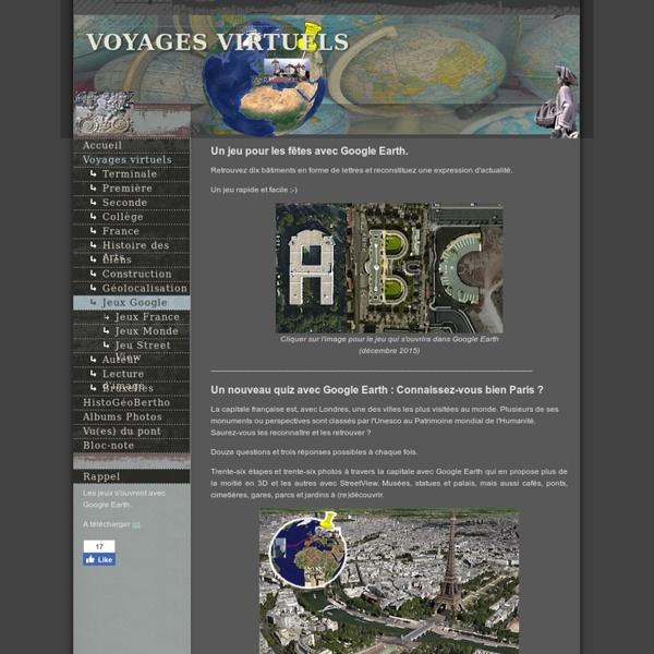 Jeux Google Earth
