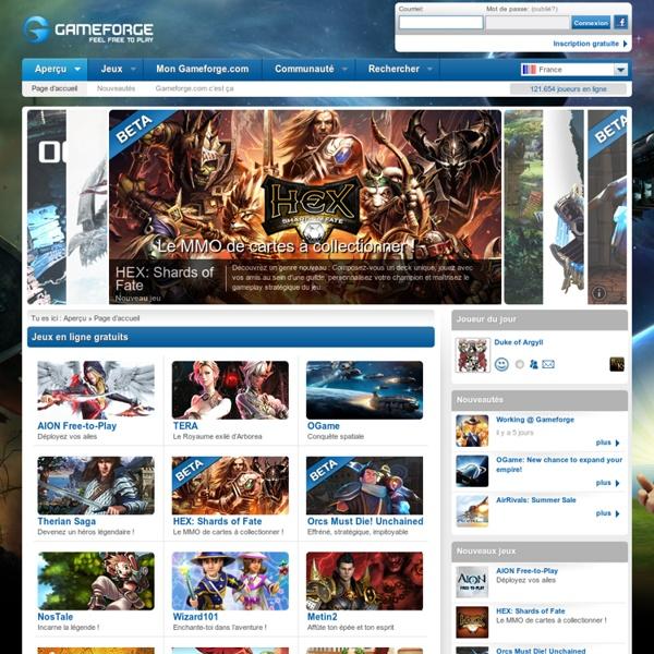 Jeux gratuits sur Gameforge.com
