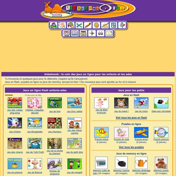 Jeux en ligne pour les enfants et les ados