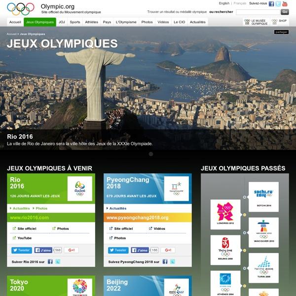 Jeux Olympiques, Vancouver 2010, Londres 2012, Sochi 2014, Rio 2016