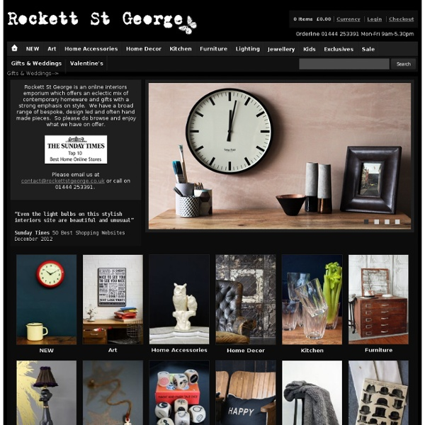 Unique and Eclectic mix of homeware and gifts
