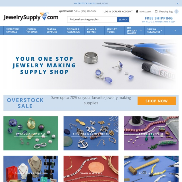 Jewelry Making Supplies - Beads, Findings and Tools