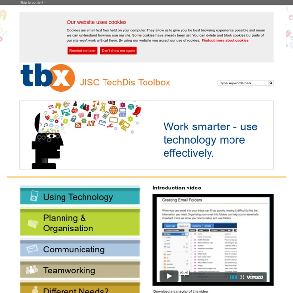 JISC TechDis Toolbox