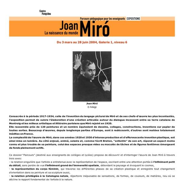 Joan Miró - Centre Pompidou
