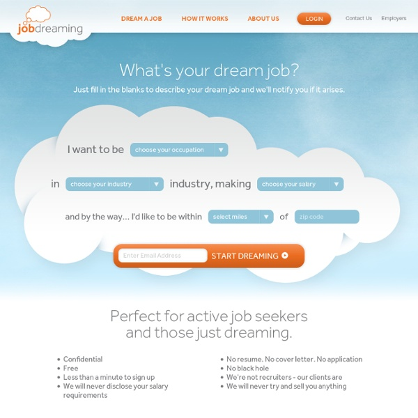 Jobdreaming - What's your dream job?