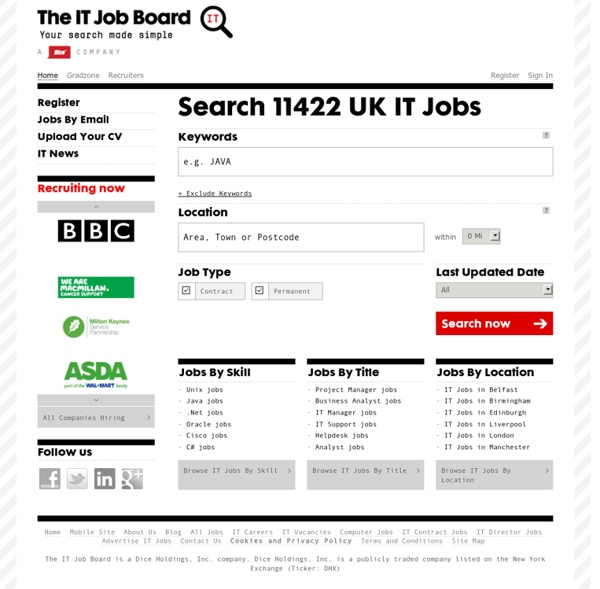 IT Jobs: UK Contract and Permanent IT Jobs