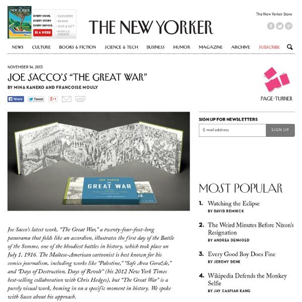 "Joe Sacco's ""The Great War"" - The New Yorker"