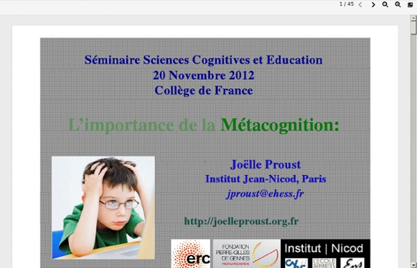 Www.college-de-france.fr/media/stanislas-dehaene/UPL5422186898395991860_JoelleProust_ImportanceMC_CollFrance2012.pdf