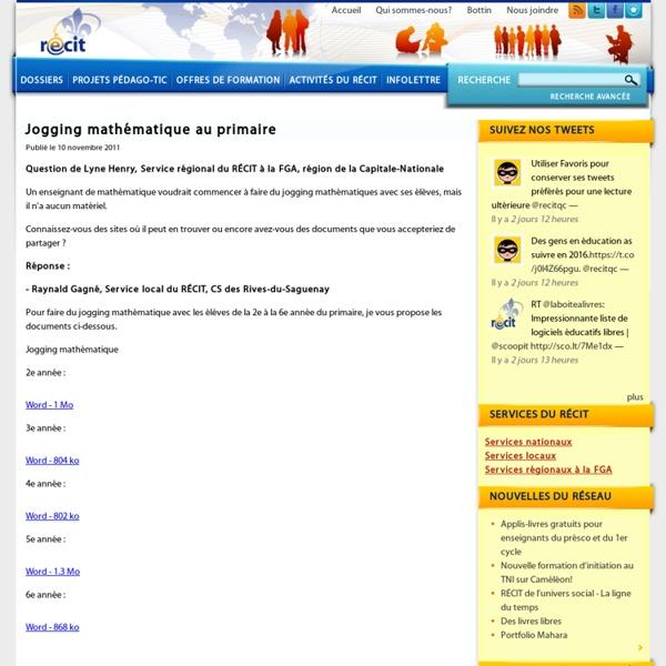 Jogging mathématique au primaire