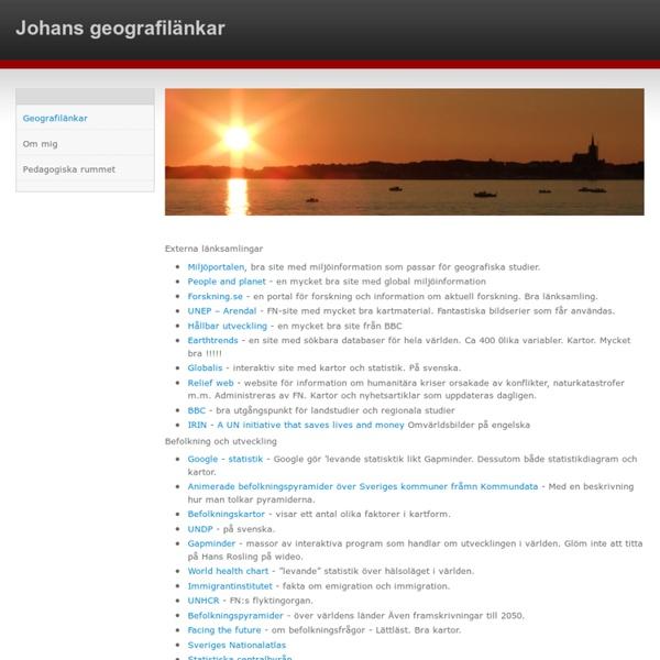 Johans geografilänkar - Geografilänkar