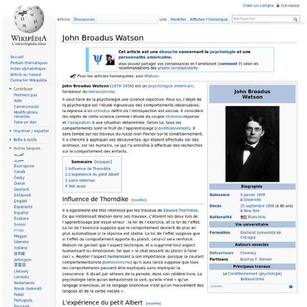 John Broadus Watson 1878-1958