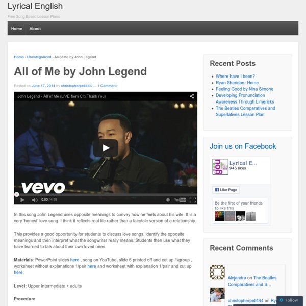 All of Me by John Legend