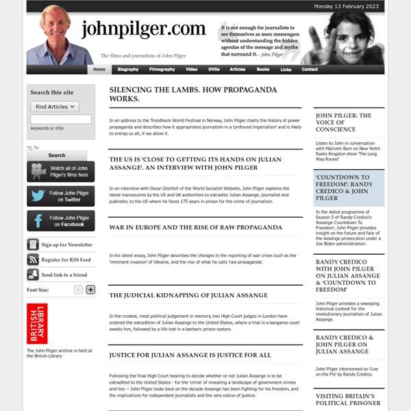 JohnPilger.com - the films and journalism of John Pilger