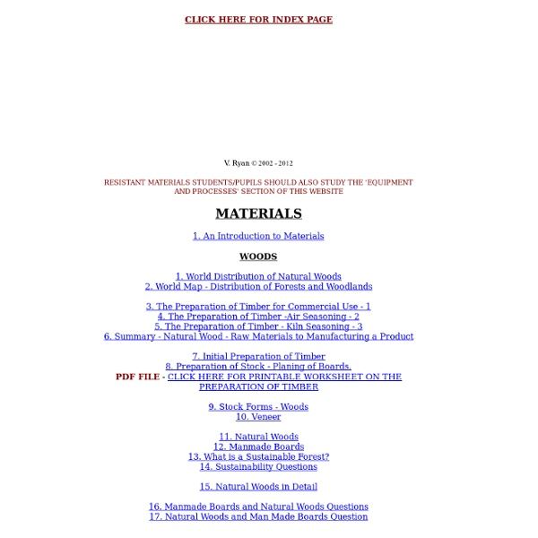 Joints and Fittings Index Page