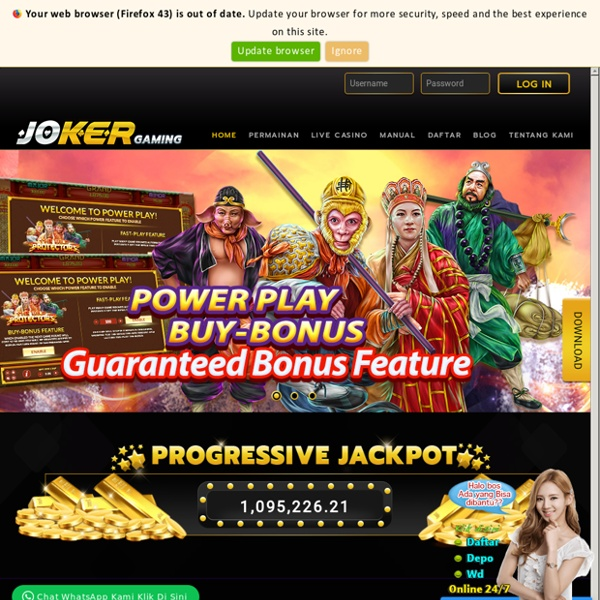 Daftar slot online joker123
