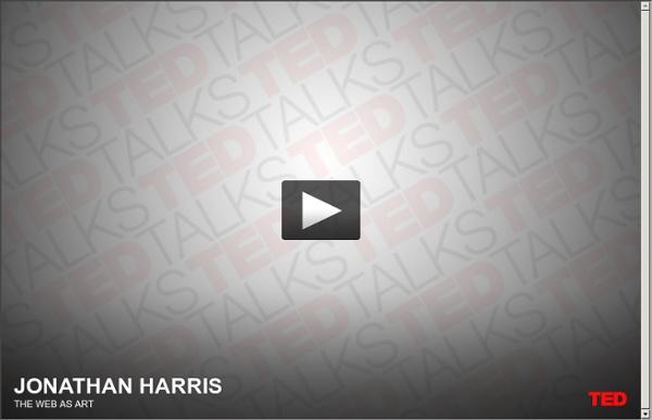 Jonathan Harris recueille des histoires.