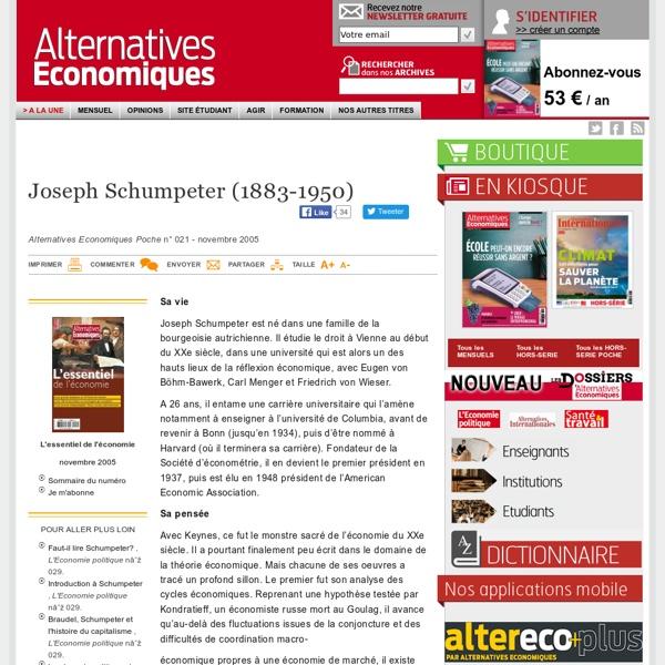 Biographie Joseph Schumpeter