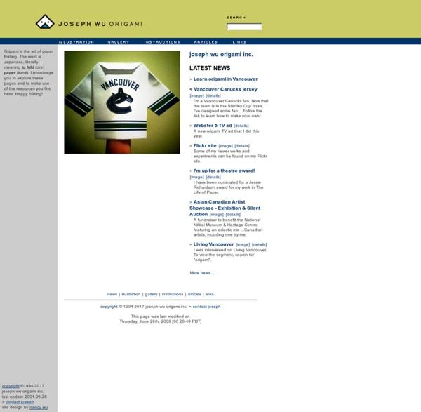 Joseph Wu's Origami Page