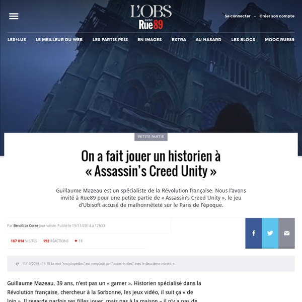 On a fait jouer un historien à « Assassin's Creed Unity »