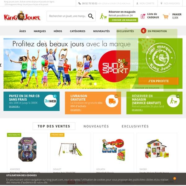king jouet achat vente de jeux et jouets en ligne jeu pour enfant et famille pearltrees. Black Bedroom Furniture Sets. Home Design Ideas