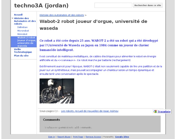 Wabot-2 robot joueur d'orgue, université de waseda - techno3A (jordan)