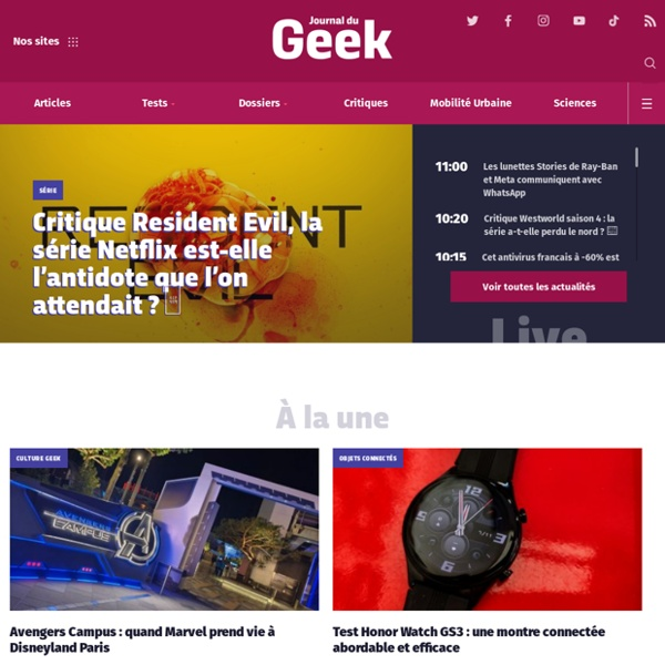 Le Journal du Geek - JDG