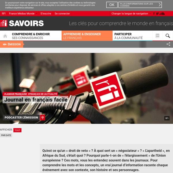 Transcription de lancements et de papiers. RFI. Journal en français facile