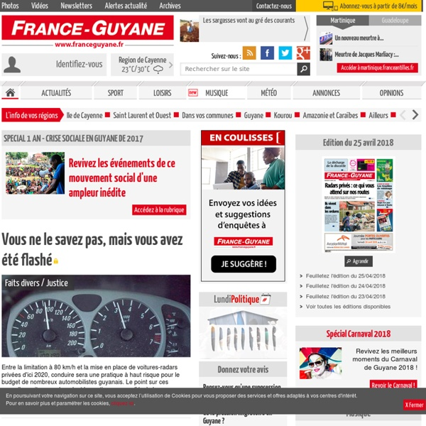 Journal France-Guyane - Toute l'actualité de la Guyane en ligne
