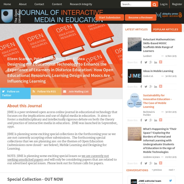 Journal of Interactive Media in Education