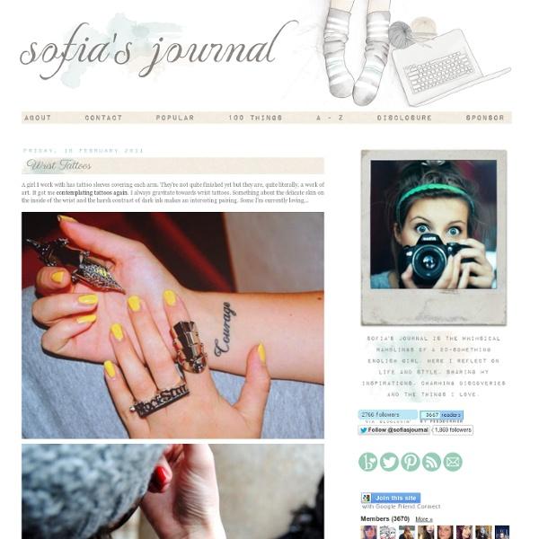 Sofia's Journal: Wrist Tattoos