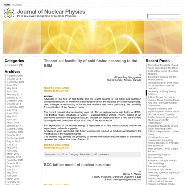 Journal of Nuclear Physics