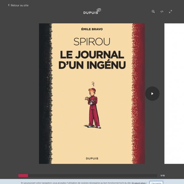 Le journal d'un ingénu (réédition 2018), tome 1 de la série de bande dessinée Le Spirou d'Emile Bravo, de Bravo -