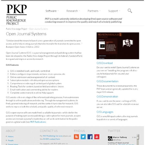 Public Knowledge Project