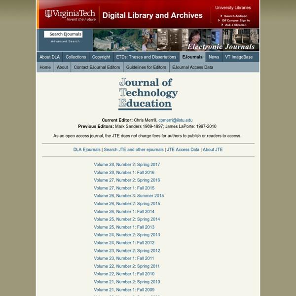 JTE - Journal of Technology Education