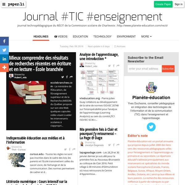 Journal TIC enseignement