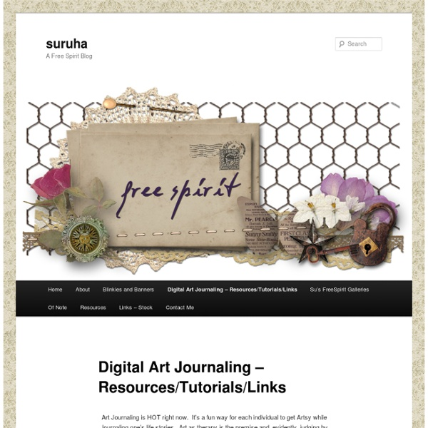 Digital Art Journaling – Resources/Tutorials/Links