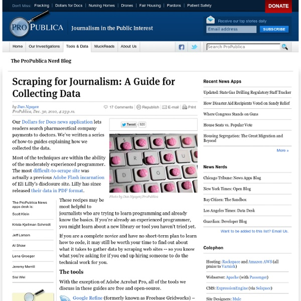 Scraping for Journalism: A Guide for Collecting Data