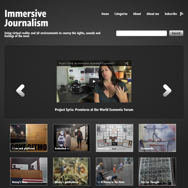 News, Non-fiction, Documentary in the 3D virtual space