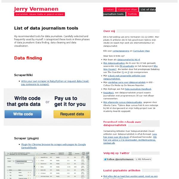 List of data journalism tools