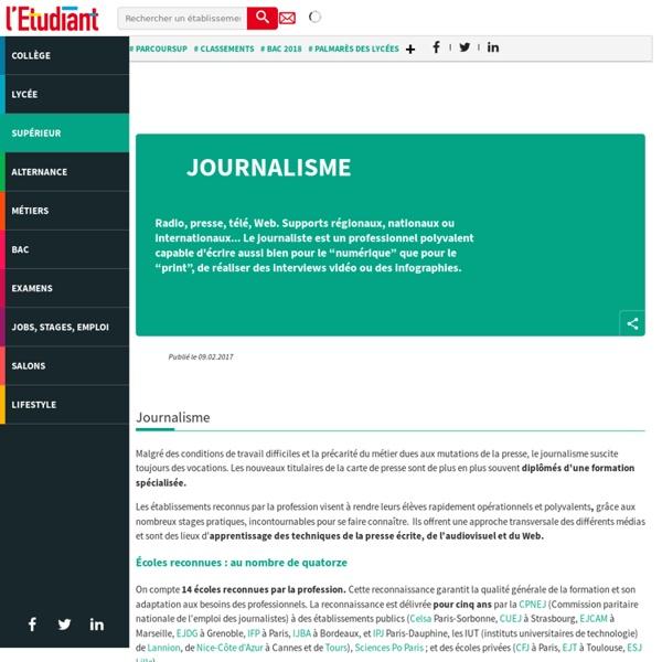 Journalisme : les études qui mènent au métier de journaliste - L'Etudiant