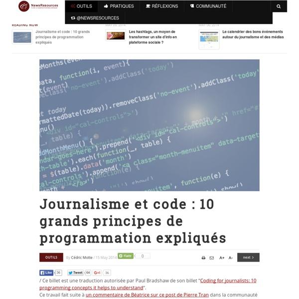 Journalisme et code : 10 grands principes de programmation expliqués