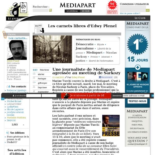 Une journaliste de Mediapart agressée au meeting de Sarkozy