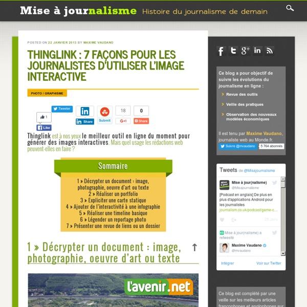 Thinglink : 7 façons pour les journalistes d'utiliser l'image interactive